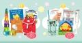 Få stavmikser, bestikk og bøker i stor babypakke