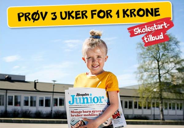 bf1c4e5f Prøv Aftenposten Junior i tre uker for en krone
