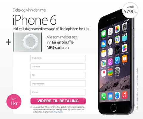 Vinn en iPhone 6 - konkurranser som lurer folk